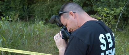 SBI taking photo of crime scene