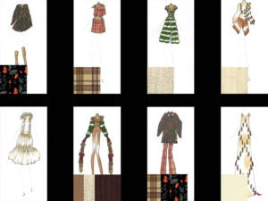 8 outfits broken down into 8 boxes to display inspiration
