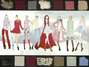 This is an image displaying Jennifer Rilley's collection composed of neutral colors.