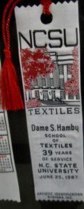 Textile Bookmark - 1987-Hamby