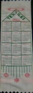 1963 Textiles Bookmark