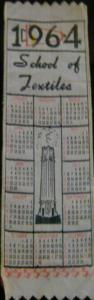 1964 Textiles Bookmark