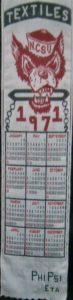 Textile Bookmark - 1971