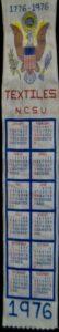 Textile Bookmark - 1976