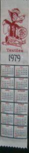 Textile Bookmark - 1979