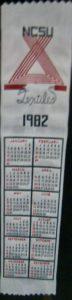 Textile Bookmark - 1982