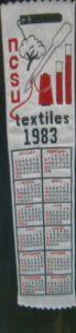 Textile Bookmark - 1983