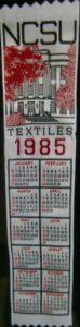 Textile Bookmark - 1985