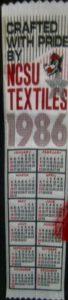 Textile Bookmark - 1986
