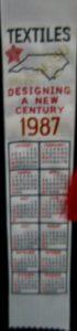 Textile Bookmark - 1987
