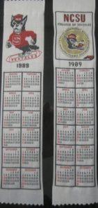 Textile Bookmark - 1989