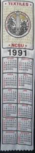 Textile Bookmark - 1991