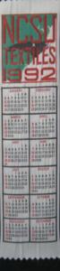 Textile Bookmark - 1992