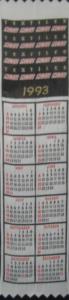 Textile Bookmark - 1993