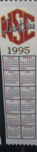 Textile Bookmark - 1995
