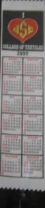 Textile Bookmark - 1997