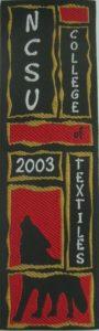Textile Bookmark - 2003