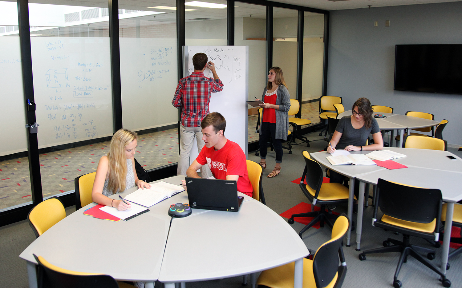 Students in the Peter R. Lord Tutoring Center