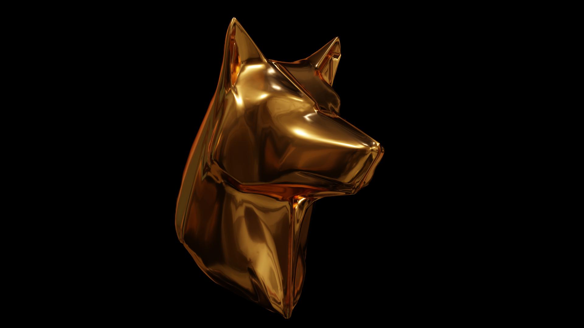 Bronze 3D Wolf